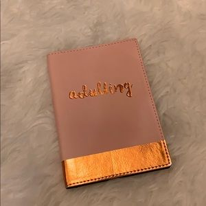 "NWOT ""Adulting"" Pink+Rose Gold Notebook🌟"